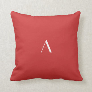 Persian Red Pillow w White Monogram