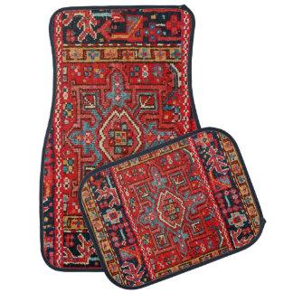 Persian Rug Design Set of 4 Car Mats
