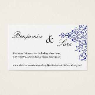 Persian Scroll Wedding Website Card