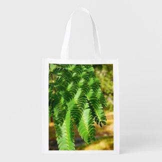 Persian Silk Tree Leaves Reusable Bag