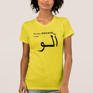 """Persian Urdu """"You Say Potato"""" T-Shirt"""