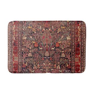 Persian Vintage Antique Carpet Nature Fine Art Bath Mat