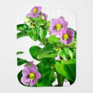 Persian violets burp cloth