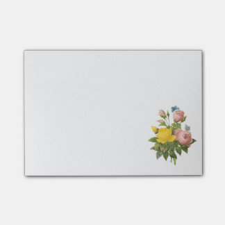 Persian yellow rose, tea rose by Redouté Post-it Notes