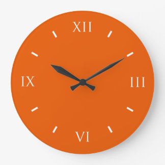 Persimmon Cool Colorful Large Clock