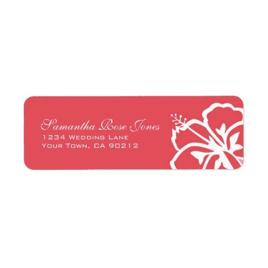 Persimmon Hibiscus Flowers Custom Address