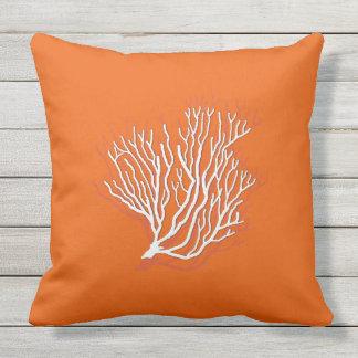 Persimmon Orange Sea Coral Decorative Cushions