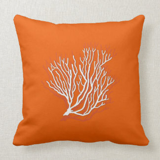 Persimmon Orange Sea Coral Decorative Throw Pillow