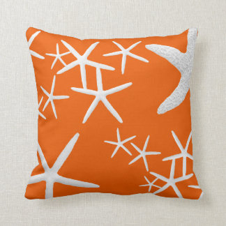 Persimmon Orange Starfish Decorative Throw Pillow