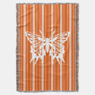 Persimmon Victorian Stripe with Butterfly