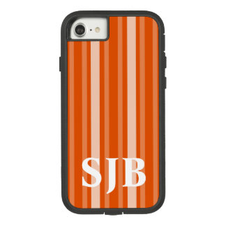 Persimmon Victorian Stripe with Monogram Case-Mate Tough Extreme iPhone 8/7 Case