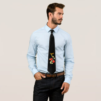 Persimmon with gold branch tie