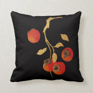 Persimmon with golden branch cushion