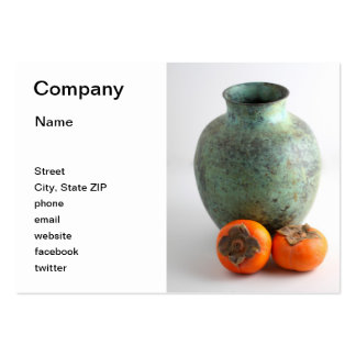 Persimmon With Vase Business Card Template