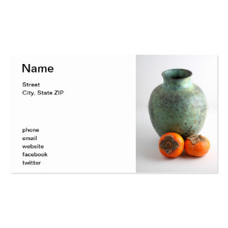 Persimmon With Vase Business Card Templates