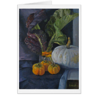 Persimmons & Greens - Art Card, Blank Card