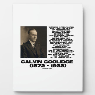 Persistence Determination Omnipotent Coolidge Plaque