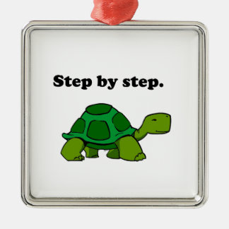 Persistent Winning Tortoise Turtle Step by Step Christmas Ornament