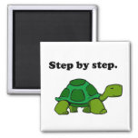 Persistent Winning Tortoise Turtle Step by Step Square Magnet