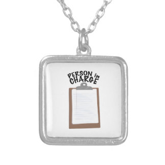 Person In Charge Silver Plated Necklace