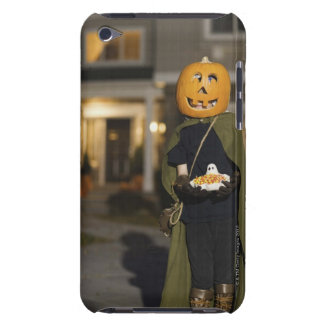 Person in Halloween costume with candy Barely There iPod Cases
