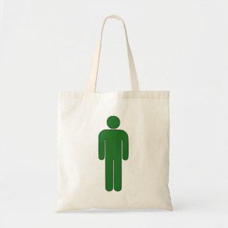 Person Man Sign Universal Silhouette Classic Comic Budget Tote Bag