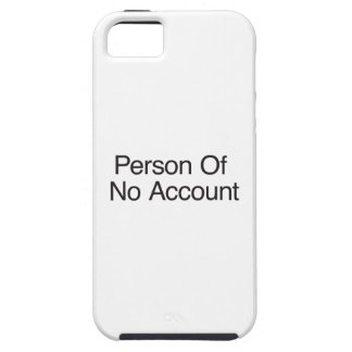 Person Of No Account iPhone 5/5S Case
