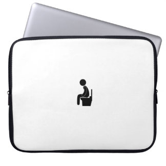 Person on loo laptop sleeve