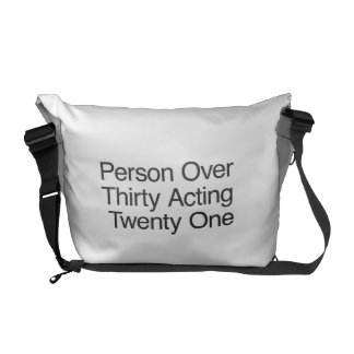 Person Over Thirty Acting Twenty One Messenger Bags