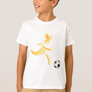 Person playing soccer tee shirt