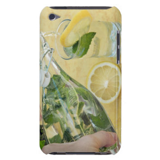 Person pouring water (mint-filled) into a glass Case-Mate iPod touch case