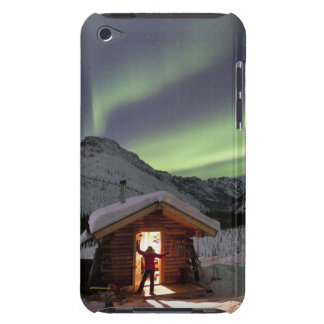 Person stands in doorway of Caribou Bluff cabin 2 iPod Touch Case