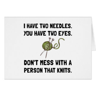 Person That Knits Greeting Card