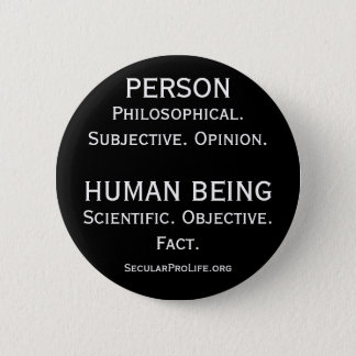 Person vs Human Being 6 Cm Round Badge
