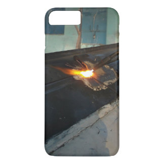 Person welding a large, metal object iPhone 7 plus case