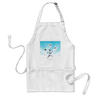 Person with Wearable Technology Adult Apron