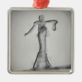 Persona Lasombra Silver-Colored Square Decoration