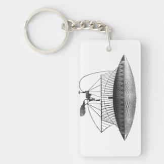 Personal Airship Single-Sided Rectangular Acrylic Key Ring
