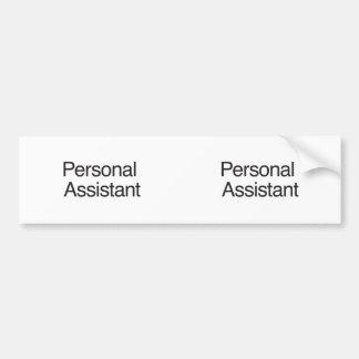 Personal Assistant ai Bumper Sticker