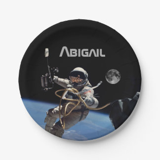 Personal Astronaut Space Walk Party Paper Plate