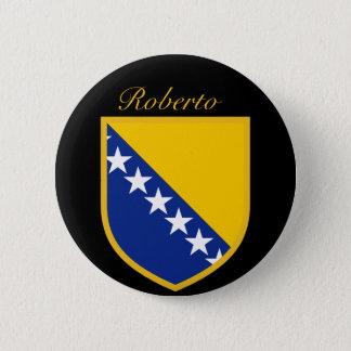 Personal Bosnia Flag 6 Cm Round Badge