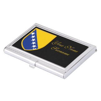 Personal Bosnia Flag Business Card Holder