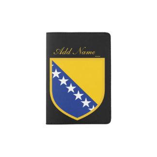 Personal Bosnia Flag Passport Holder