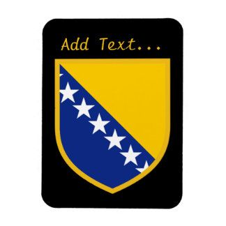 Personal Bosnia Flag Rectangular Photo Magnet