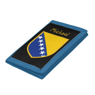 Personal Bosnia Flag Trifold Wallet