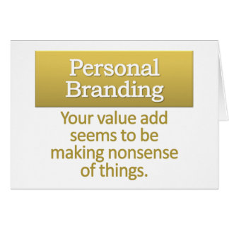 Personal Branding  Note Card
