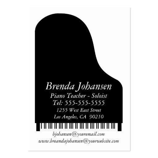 Personal - Business Card Piano