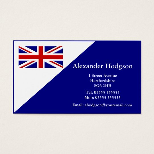 Personal Business Card - United Kingdom