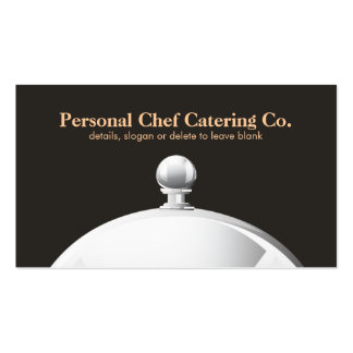 Personal Chef Catering Company Cloche Elegant Business Cards