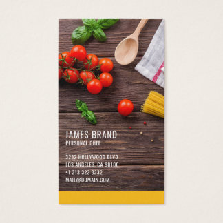 Personal Chef Catering Service Business Card